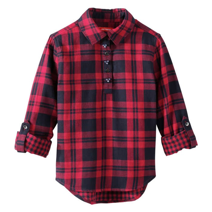 Kid Girls Plaid Shirt In Red From Joe Fresh