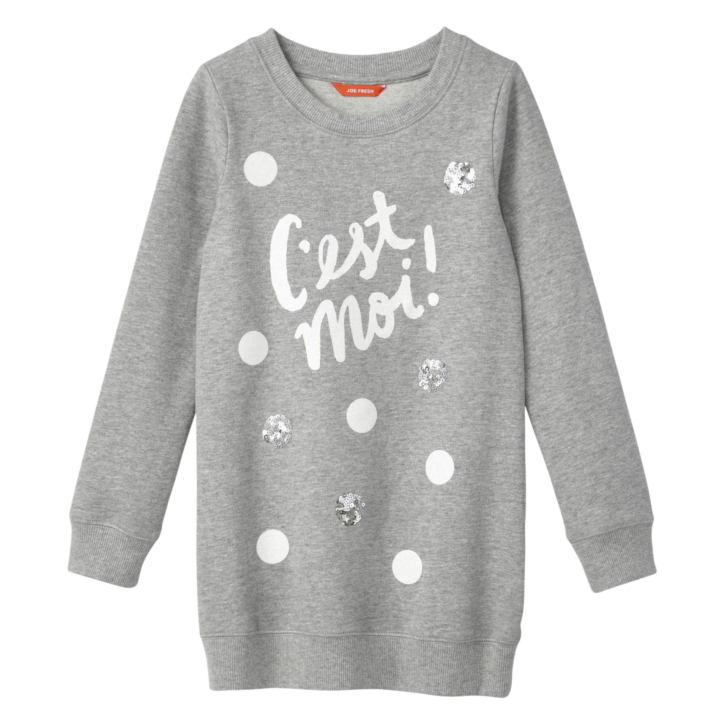 21895ae01a Joe Fresh Kid Girls' Sweatshirt Dress