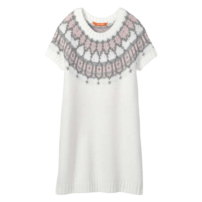 Kid Girls' Fair Isle Sweater Dress in Off White from Joe Fresh