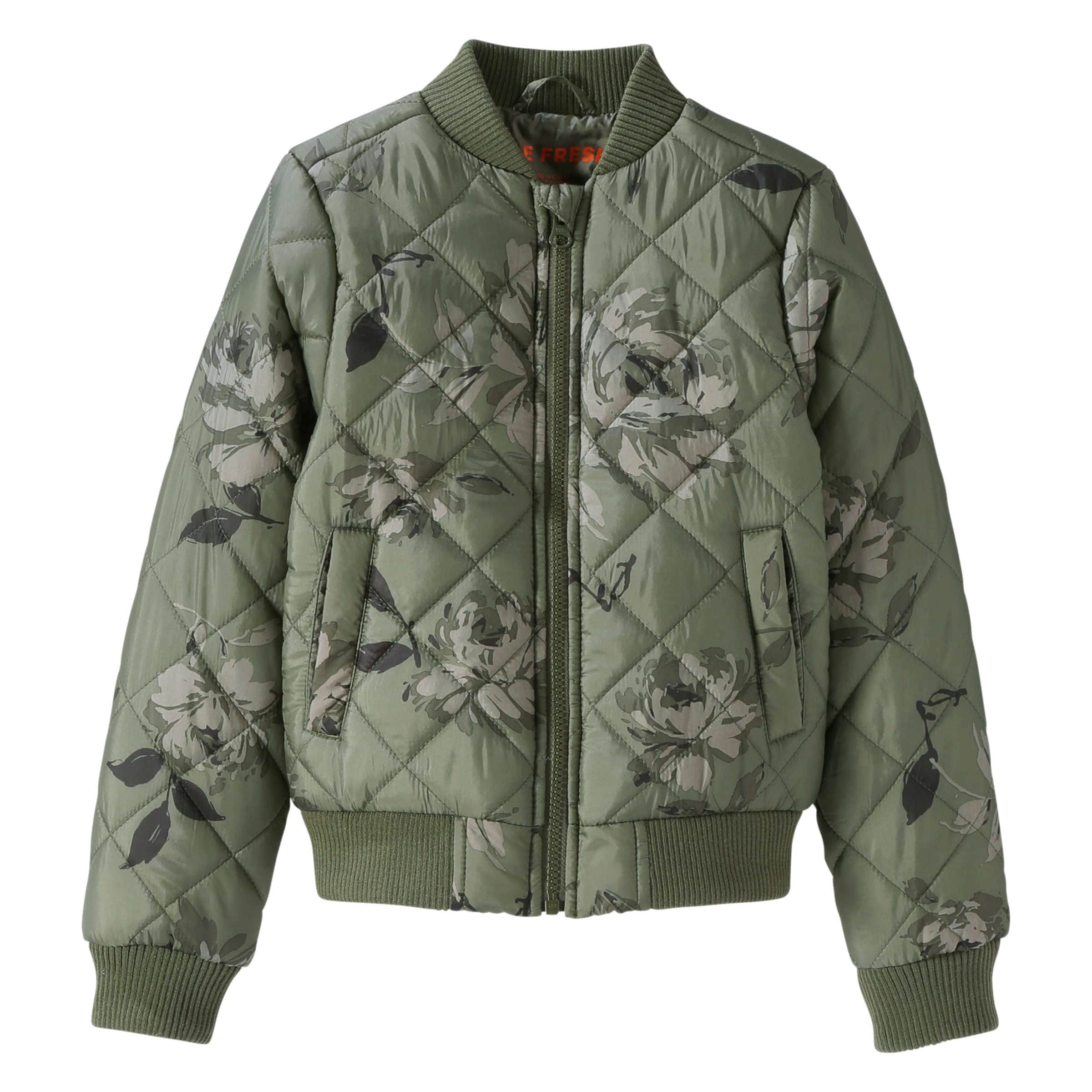 6f5852f84 Kid Girls  Quilted Bomber Jacket in Khaki Green from Joe Fresh