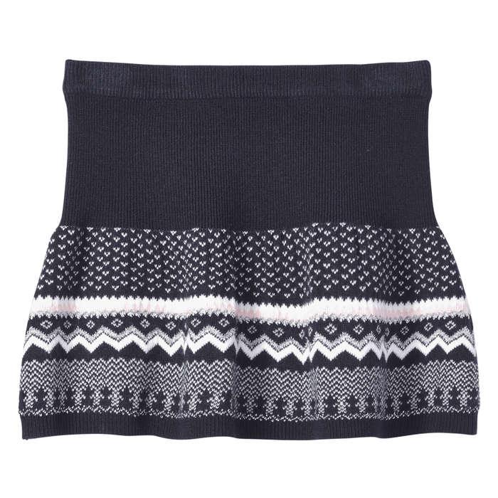 Kid Girls' Fair Isle Knit Skirt in JF Midnight Blue from Joe Fresh