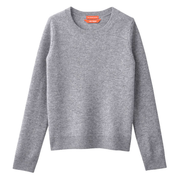 Kid Girls' Cashmere Sweater in Dark Grey from Joe Fresh
