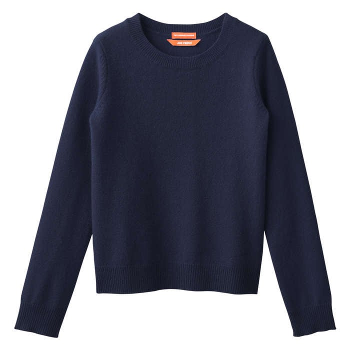 Kid Girls' Cashmere Sweater in Dark Navy from Joe Fresh