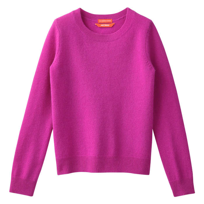 Kid Girls' Cashmere Sweater in Pink from Joe Fresh