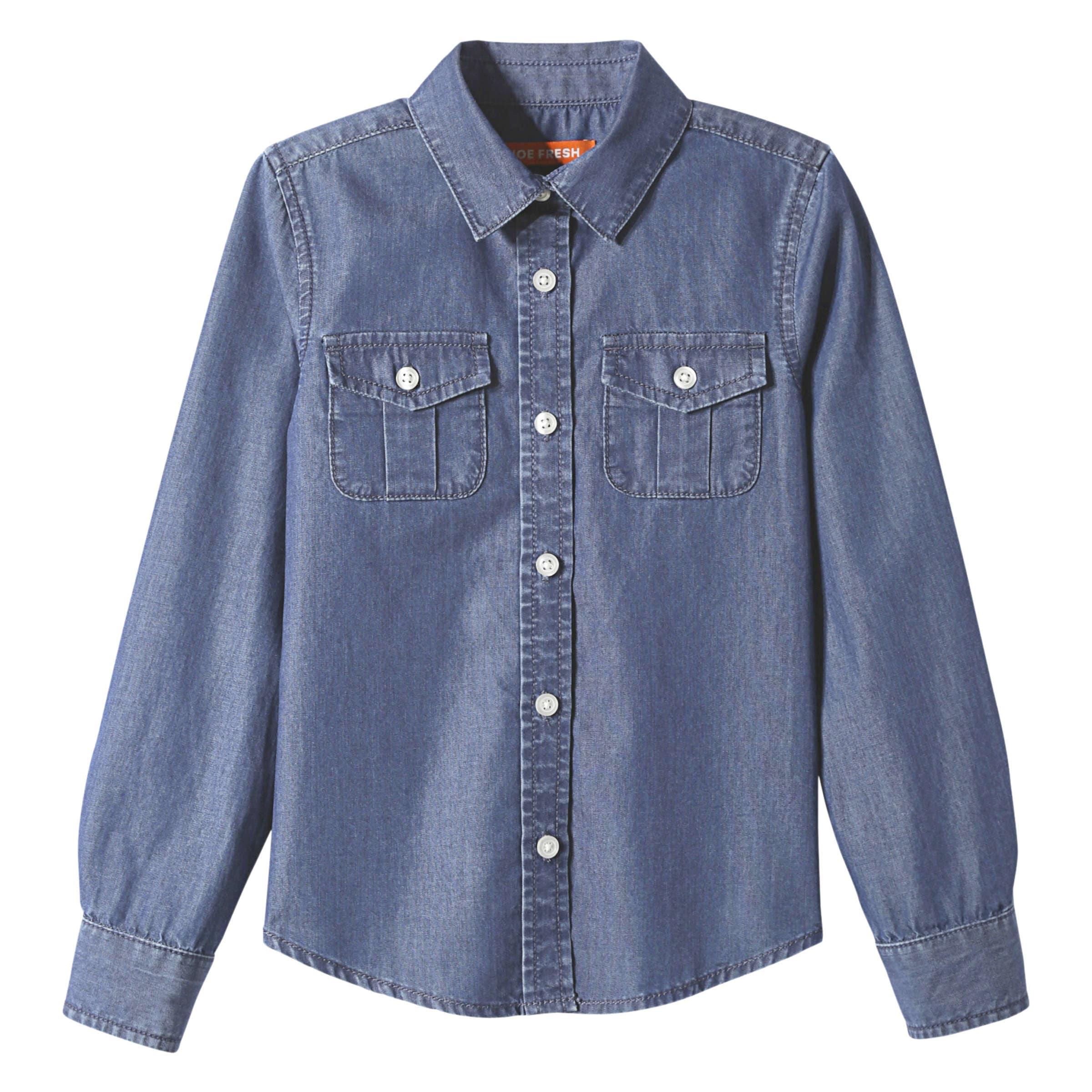 86e04b4e613 Kid Girls  Denim Shirt in Medium Wash from Joe Fresh