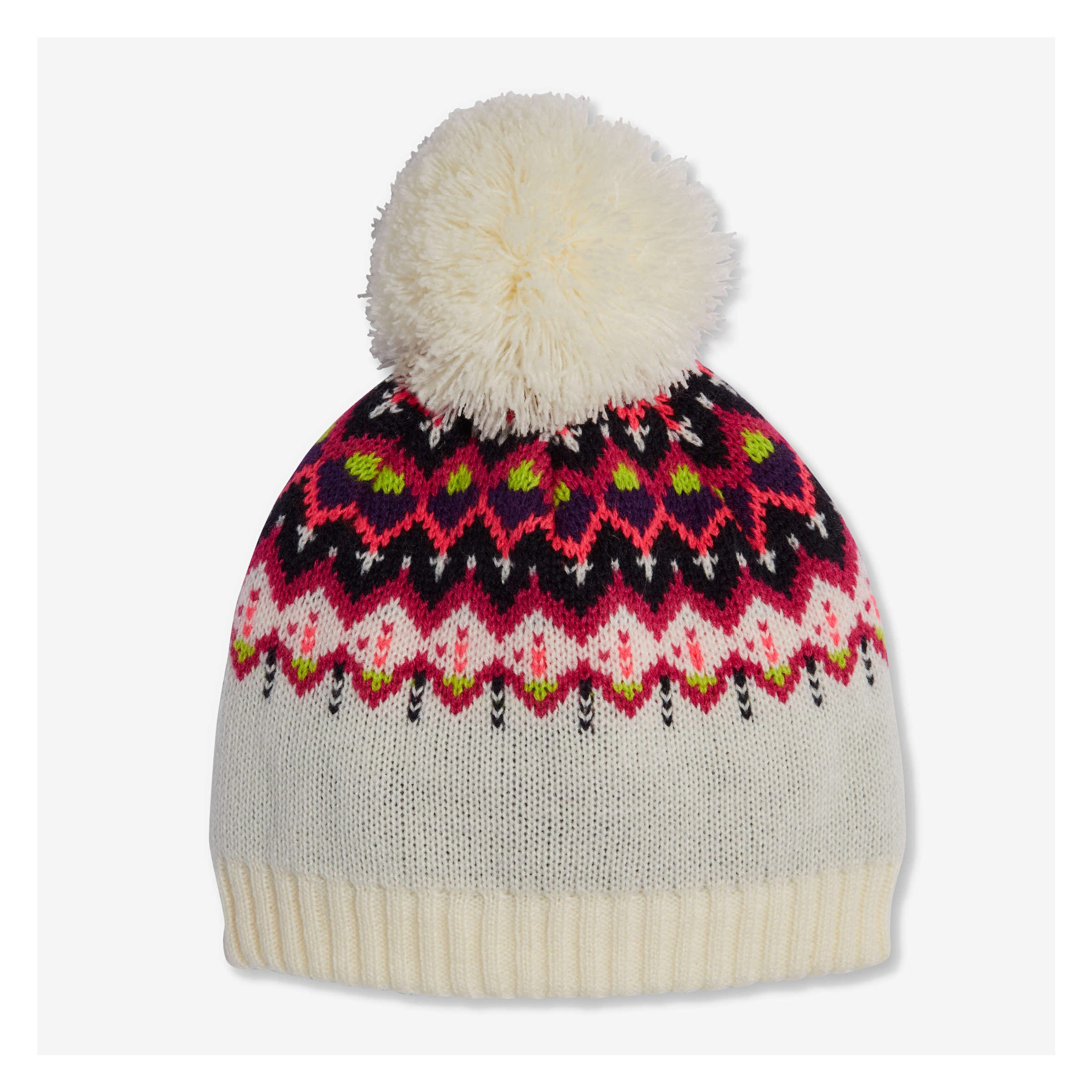 70b102fbfef Kid Girls  Fair Isle Beanie in Pearl White from Joe Fresh