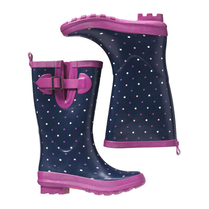 Kid Girls' Polka Dot Rain Boots