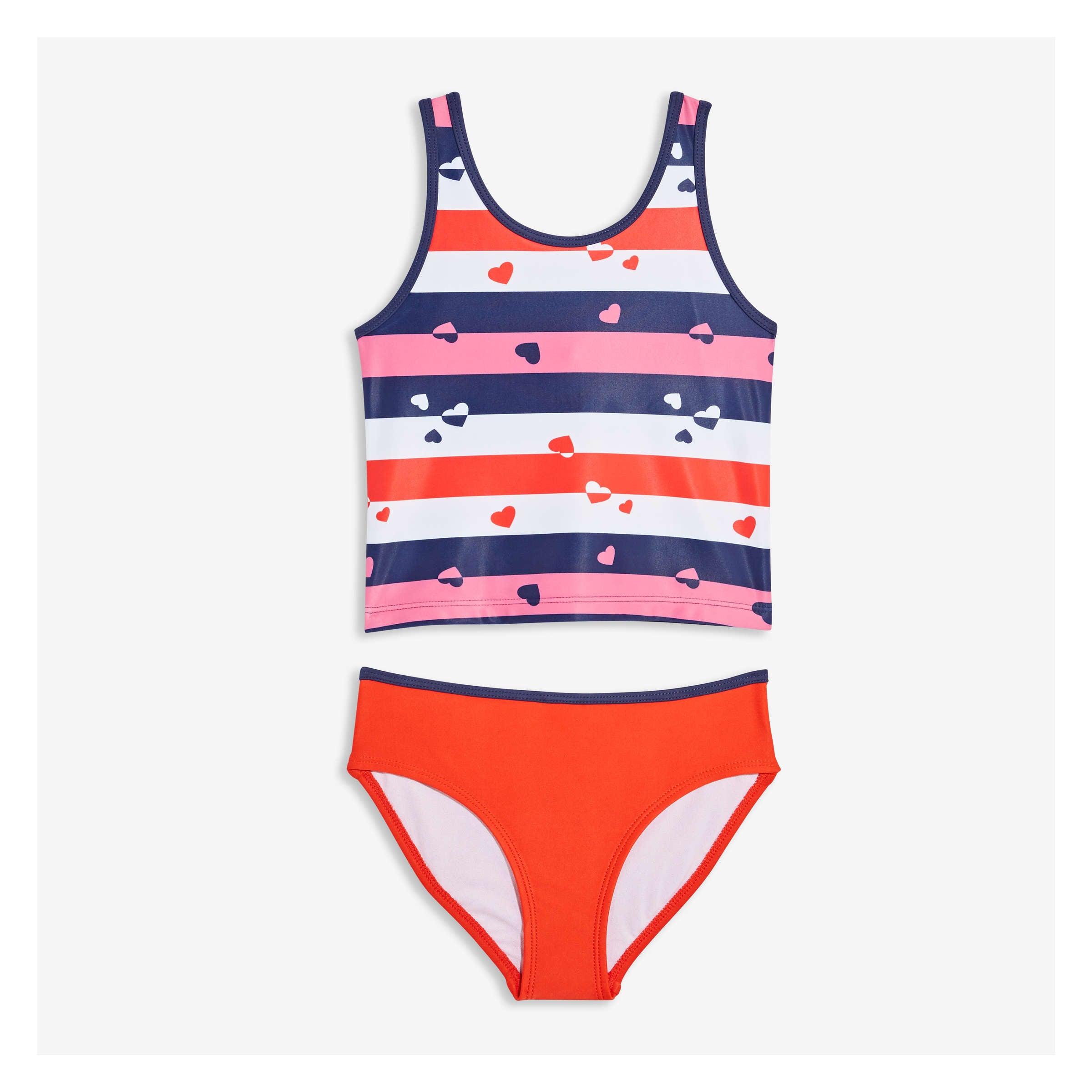 fc9de76121 Kid Girls  Two Piece Swimsuit in Red from Joe Fresh