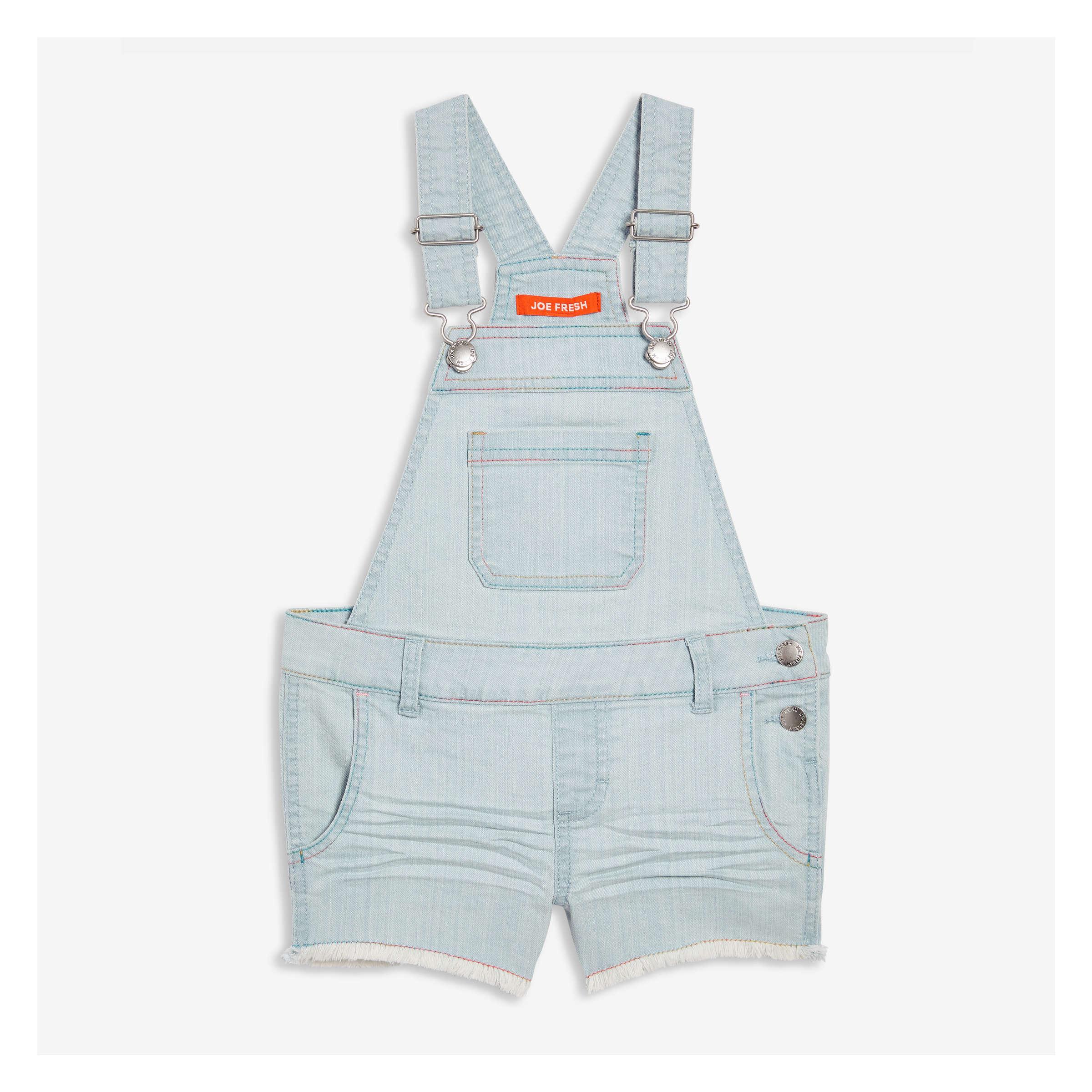 2e8509a78332 Kid Girls' Denim Overalls in Light Wash from Joe Fresh