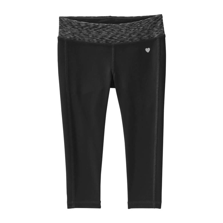 Kid Girls' Cropped Yoga Pant In Black From Joe Fresh