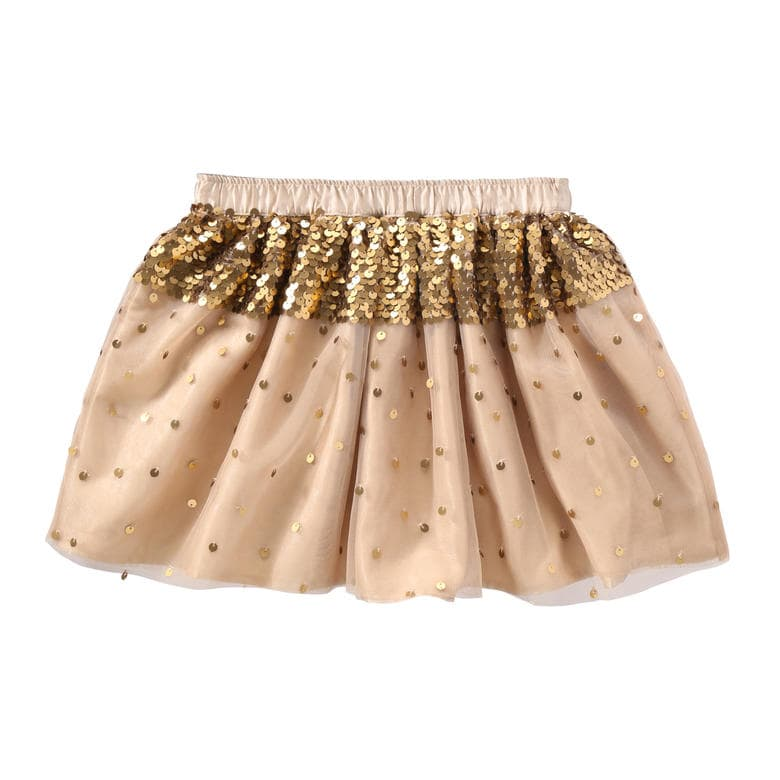 Kid Girls' Sequin Tutu Skirt in Gold from Joe Fresh