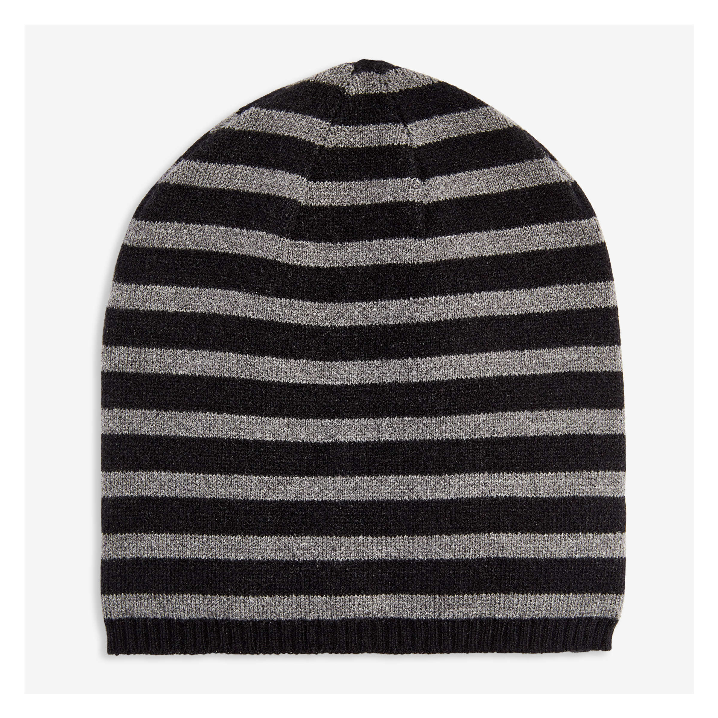 0063611092b Men s Stripe Beanie in JF Black from Joe Fresh