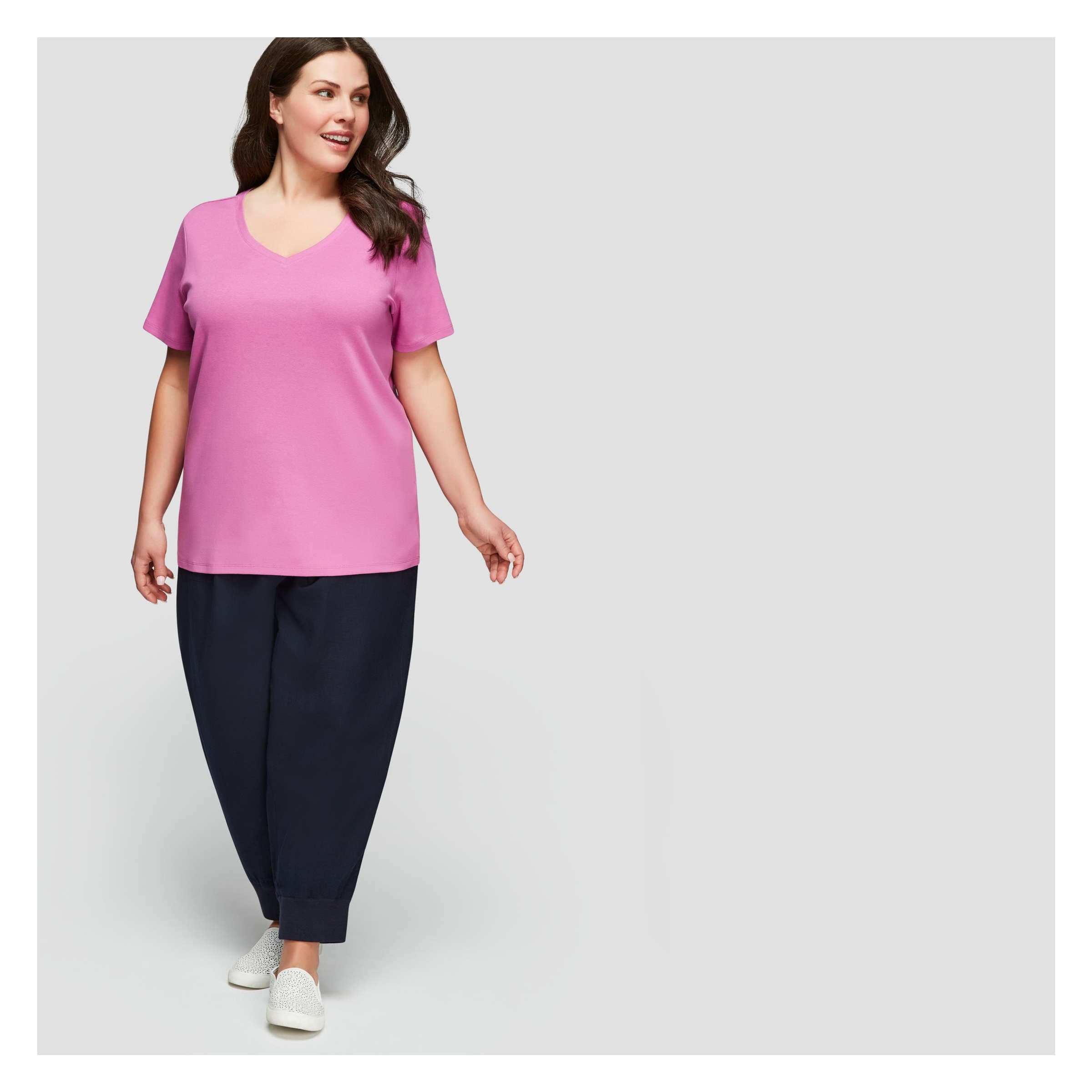 Essential V Neck Tee In Amethyst From Joe Fresh Pants Product Image