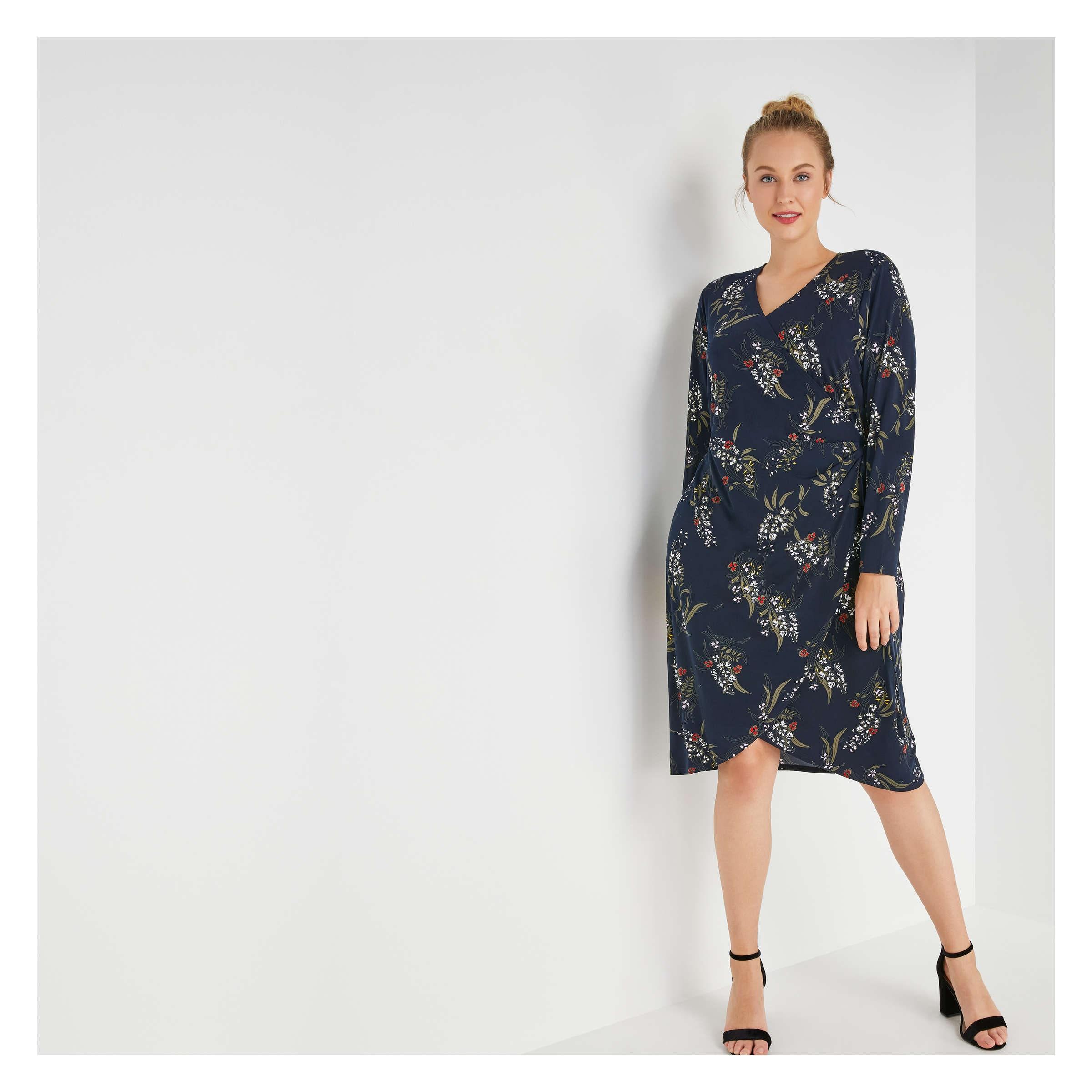 f6837bc44a52a Joe Fresh Women+ Print Wrap Dress
