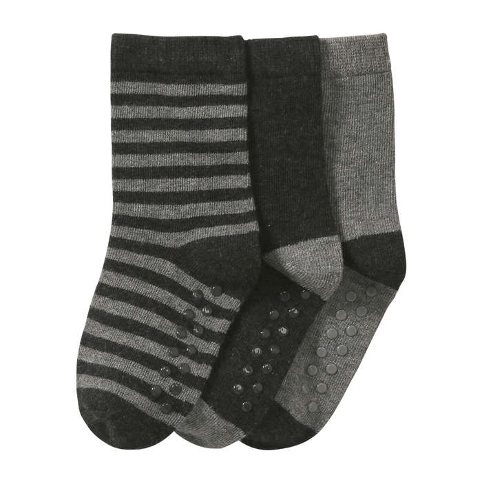 Toddler Boys' 3 Pack Socks in Dark Charcoal Mix from Joe Fresh