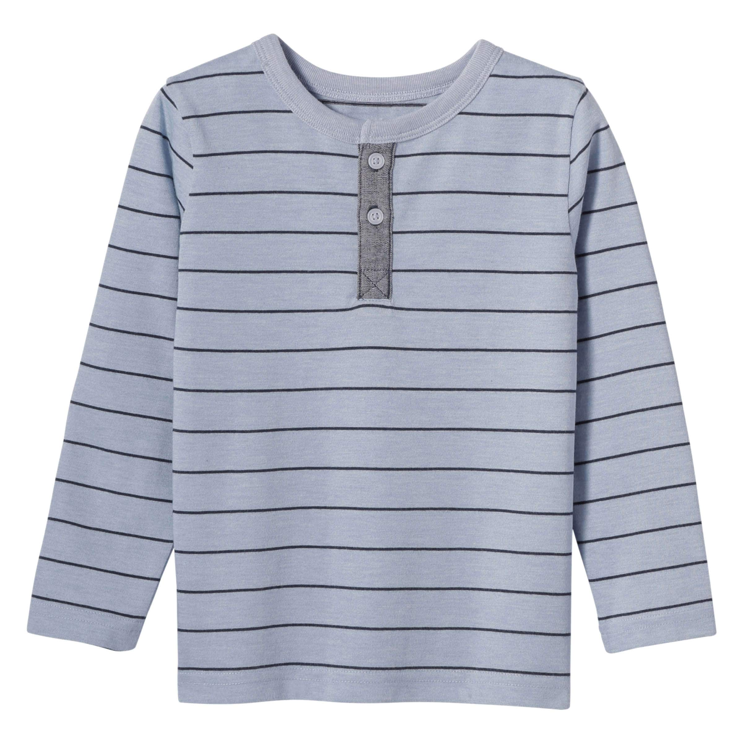 9df785af2 Toddler Boys' Henley Tee in Light Blue Mix from Joe Fresh