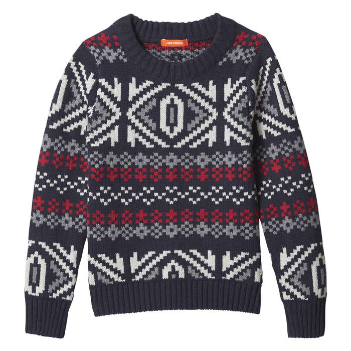 Toddler Boys' Fair Isle Sweater in JF Midnight Blue from Joe Fresh