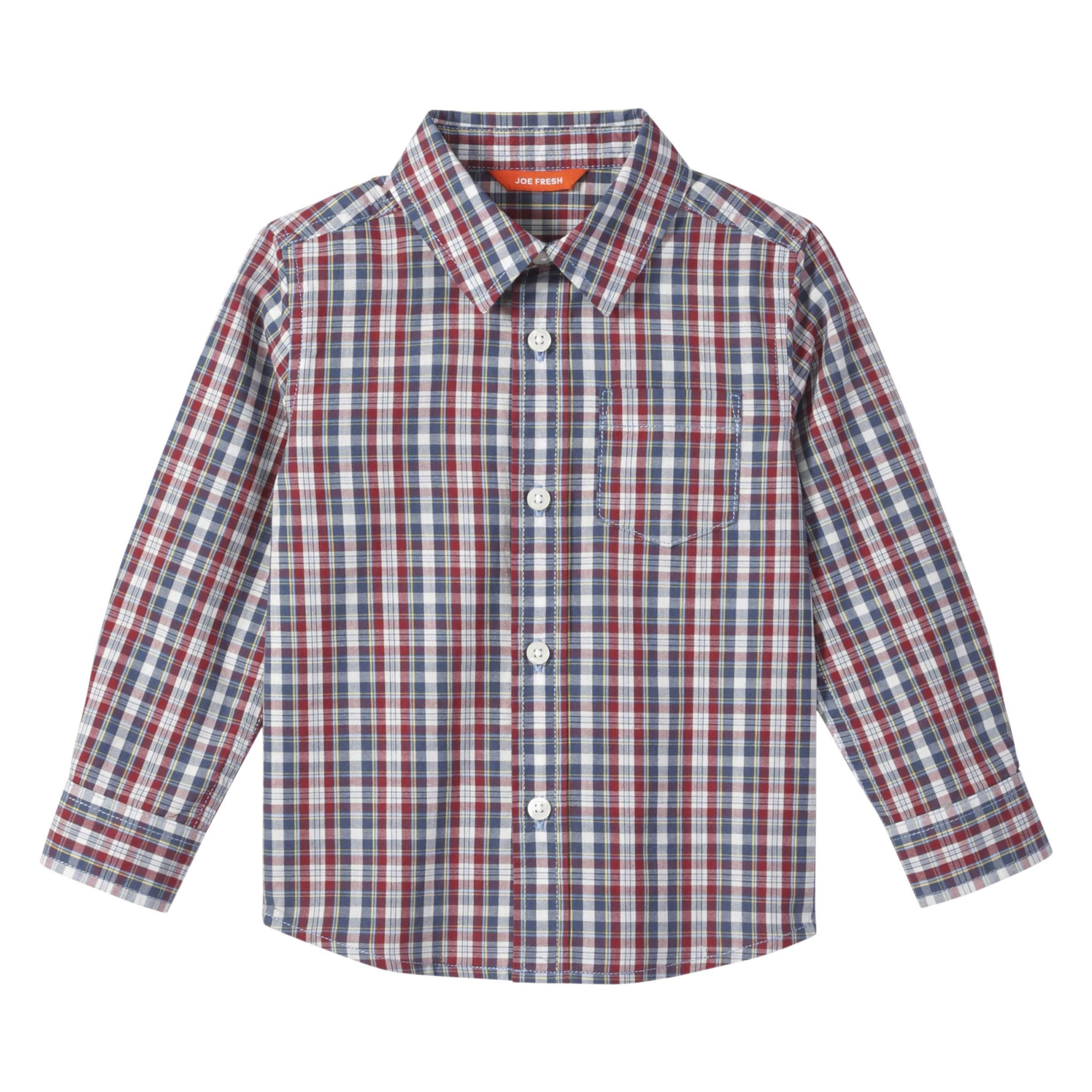 a2129c2db Toddler Boys' Plaid Shirt in Denim Blue from Joe Fresh