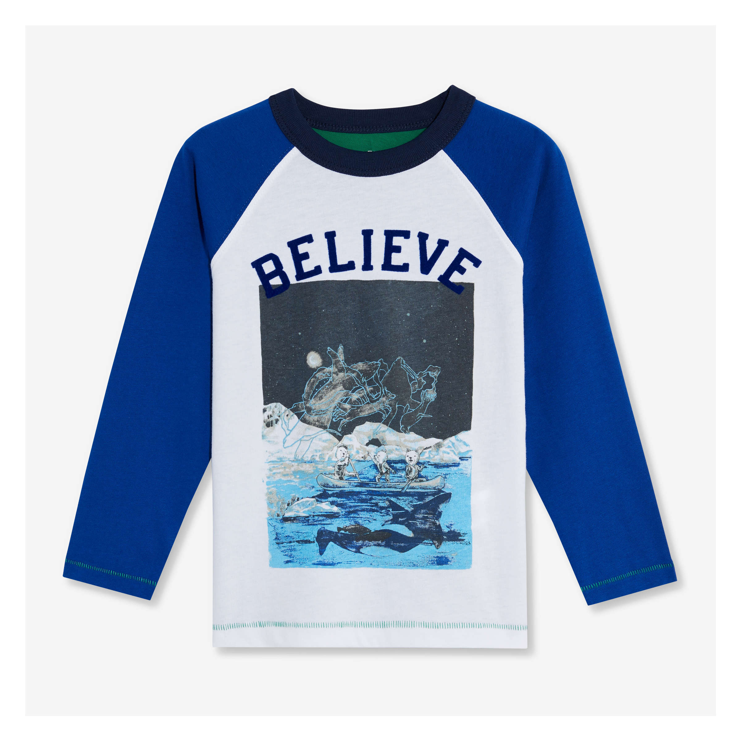 8905daa5a Toddler Boys' Graphic Raglan Tee in Royal Blue from Joe Fresh