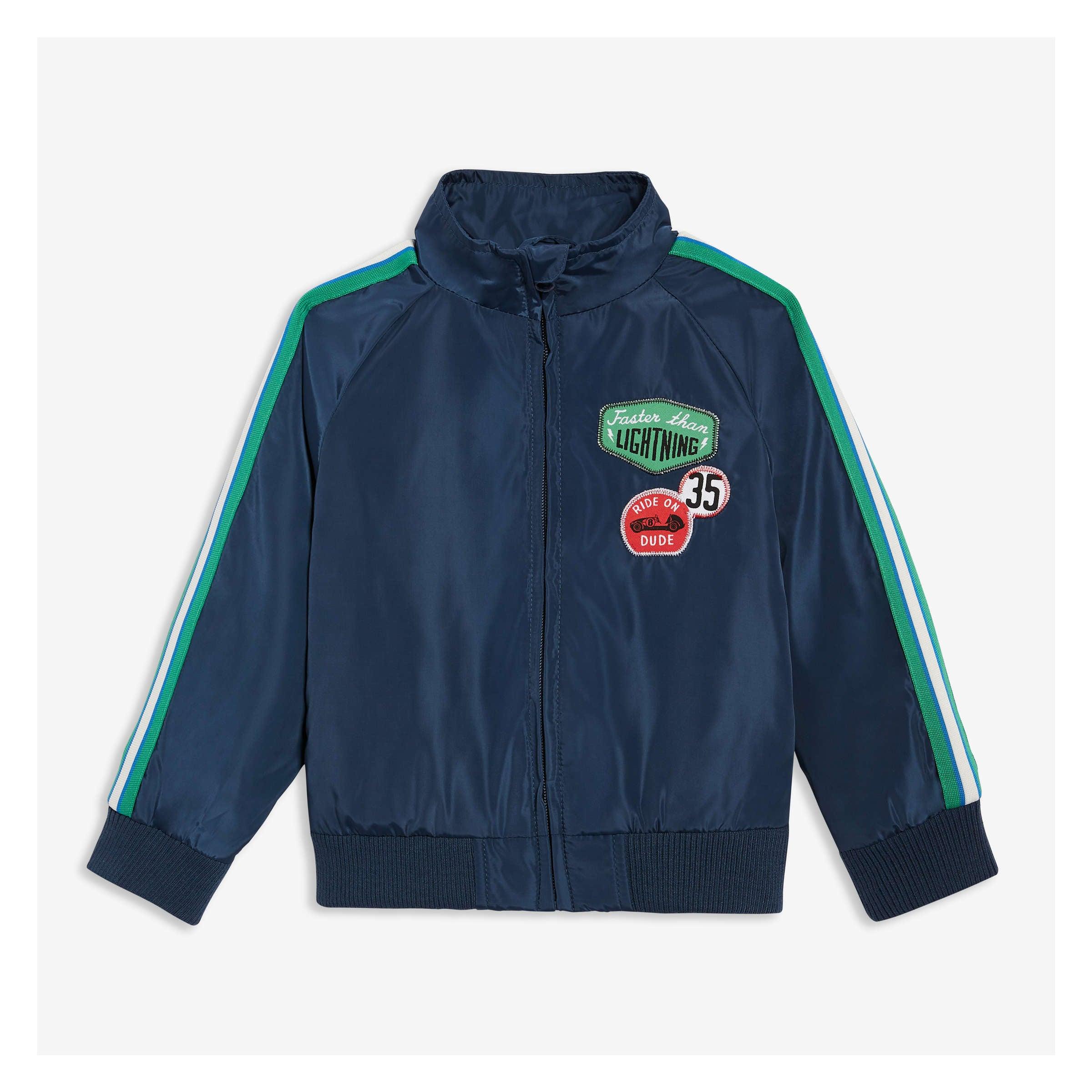 5f31a27cf18 Joe Fresh Toddler Boys' Race Car Patch Track Jacket