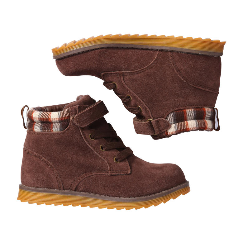 toddler boys lace up boots in brown from joe fresh