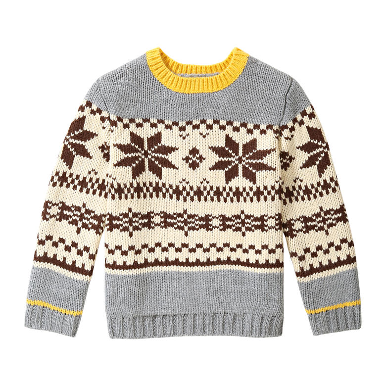 Toddler Boys' Fair Isle Sweater in Grey from Joe Fresh