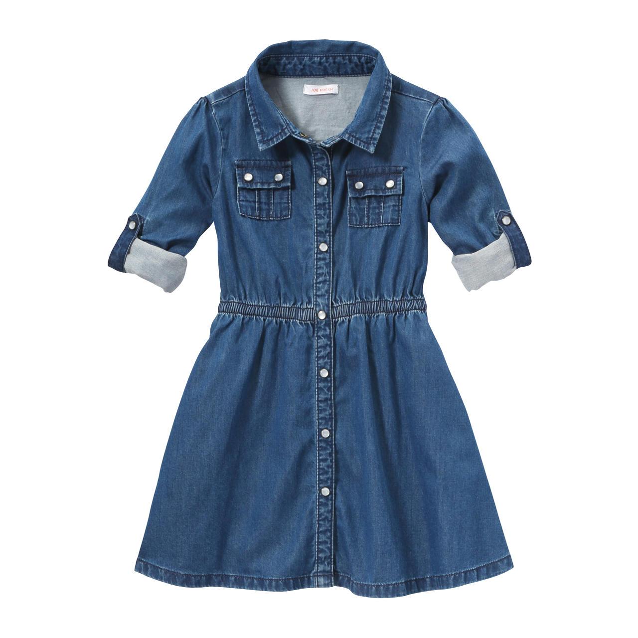 Toddler Girls&39 Denim Shirt Dress in Blue from Joe Fresh