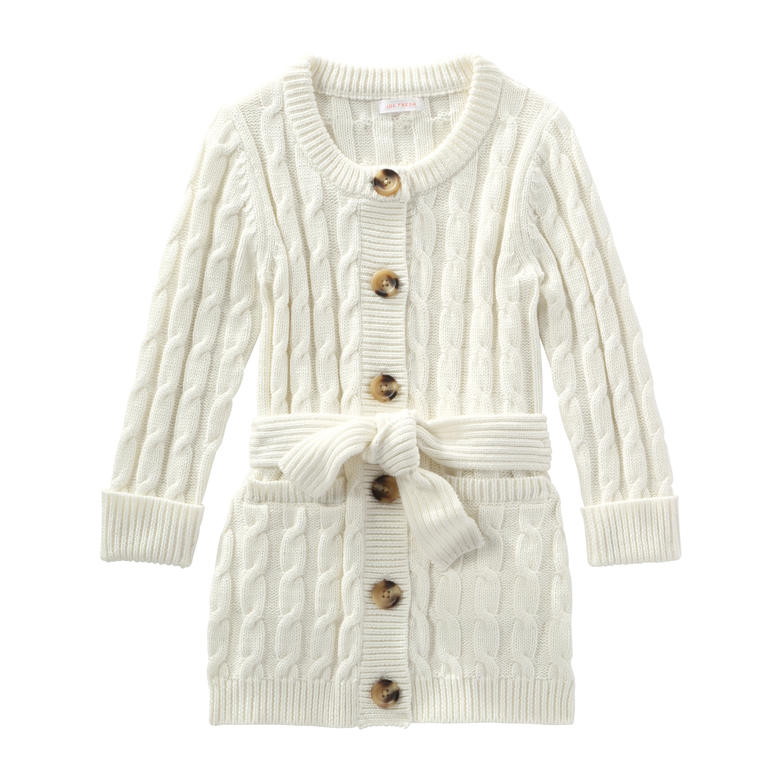 Toddler Girls' Sweater Coat in Cream from Joe Fresh