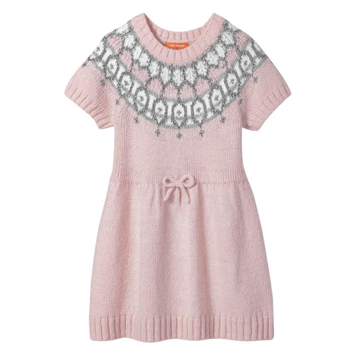 Toddler Girls' Fair Isle Sweater Dress in JF Perennial Pink from ...