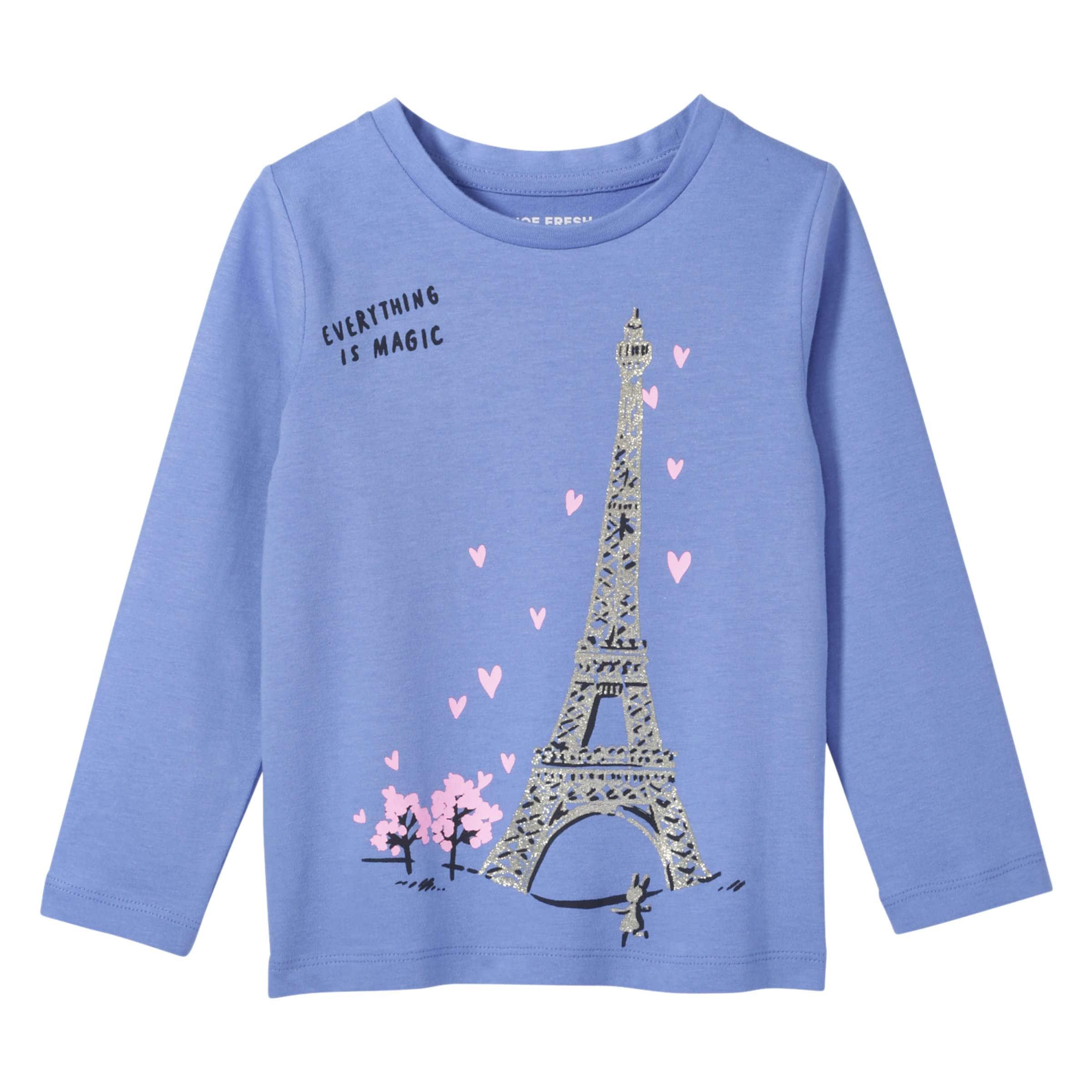 a3bb861a3d Toddler Girls  Print Long Sleeve Tee in Ultramarine from Joe Fresh