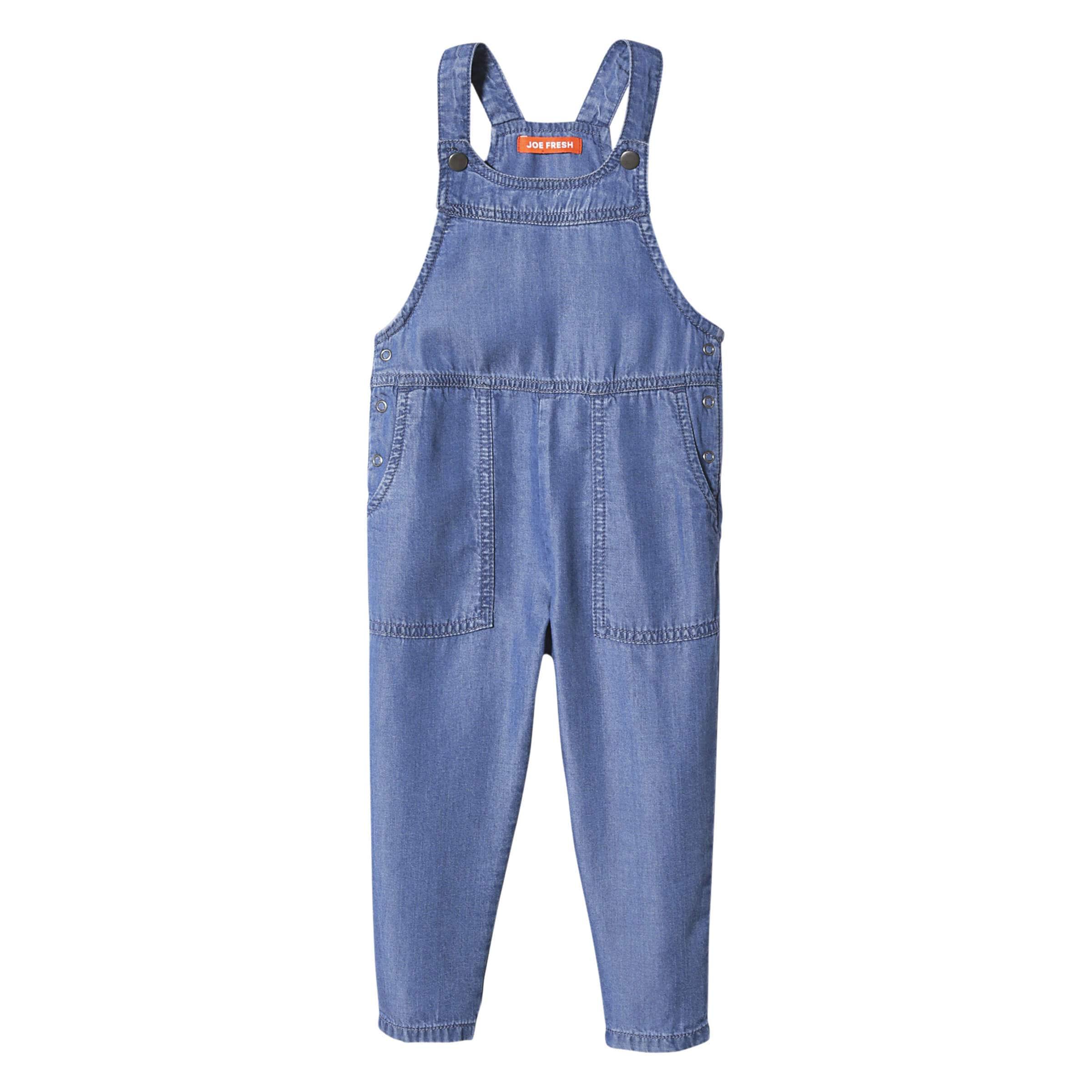 0458e4320c Toddler Girls  Denim Overalls in Medium Wash from Joe Fresh