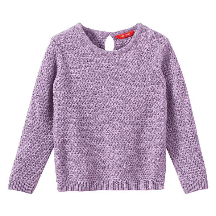Toddler Girls' Keyhole Sweater in Light Purple Mix from Joe Fresh