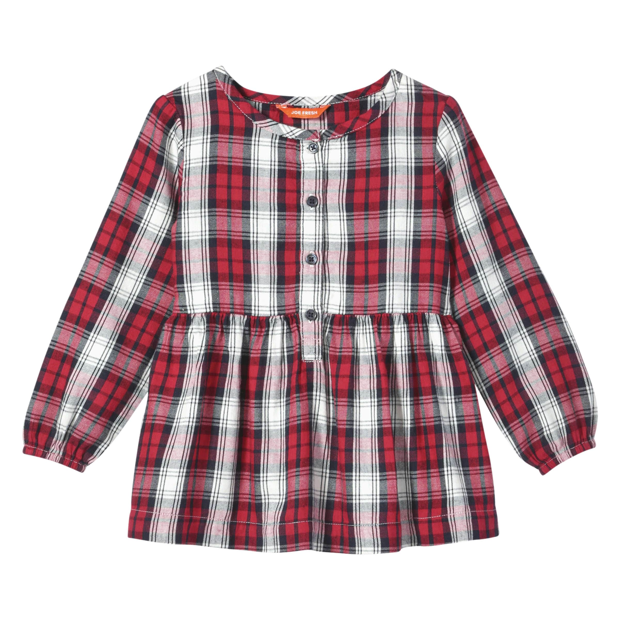 3d05dd37 Toddler Girls' Flannel Shirt in Carmine Red from Joe Fresh