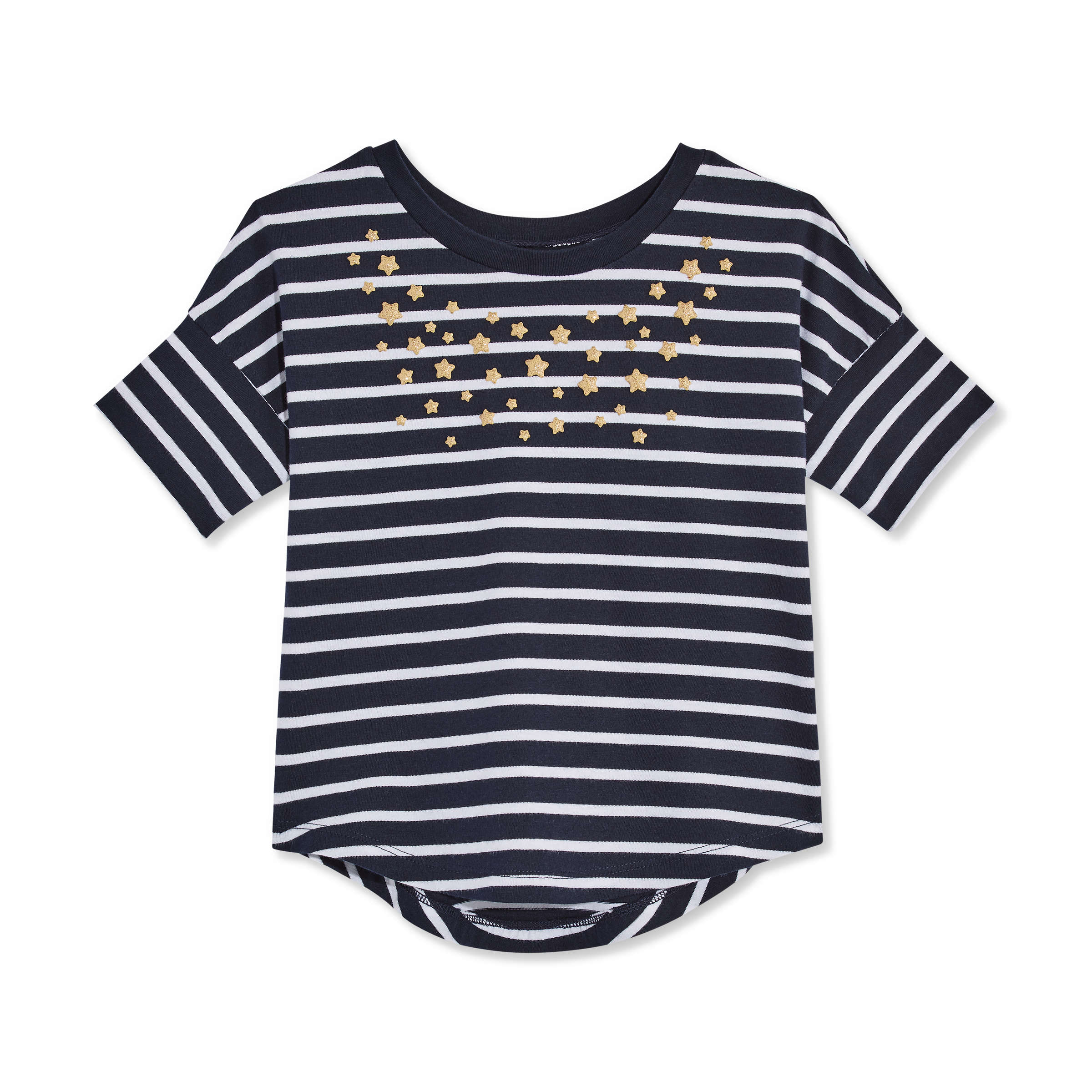56eb09669 Toddler Girls' Stripe Round Hem Tee in JF Midnight Blue from Joe Fresh