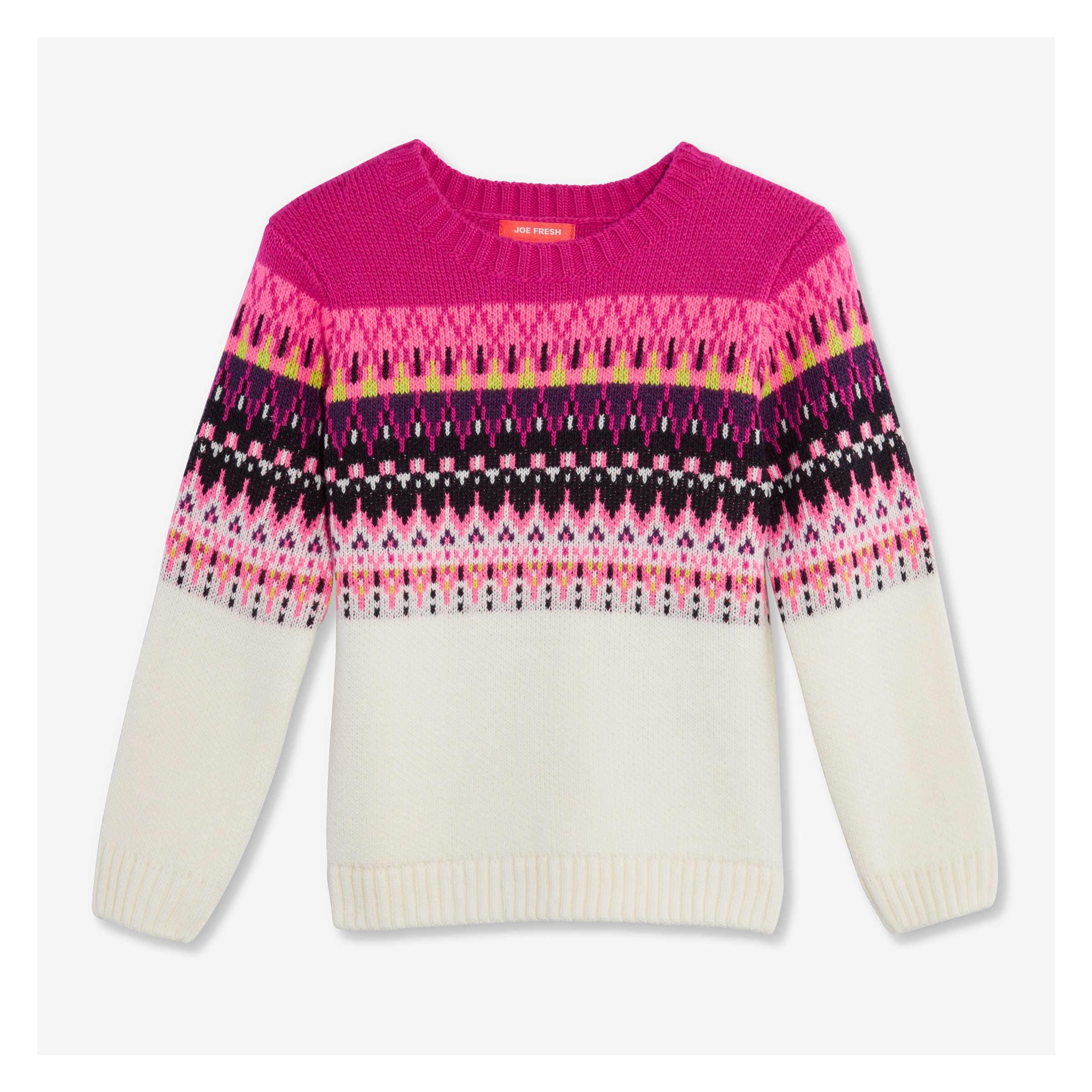 Joe Fresh Toddler Girls' Fair Isle Sweater