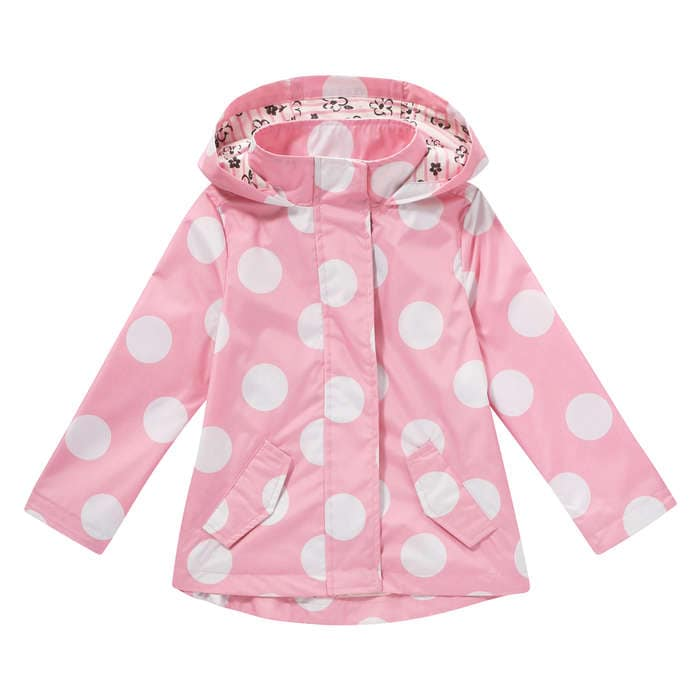 Toddler Girls&39 Polka Dot Rain Jacket in Pink from Joe Fresh