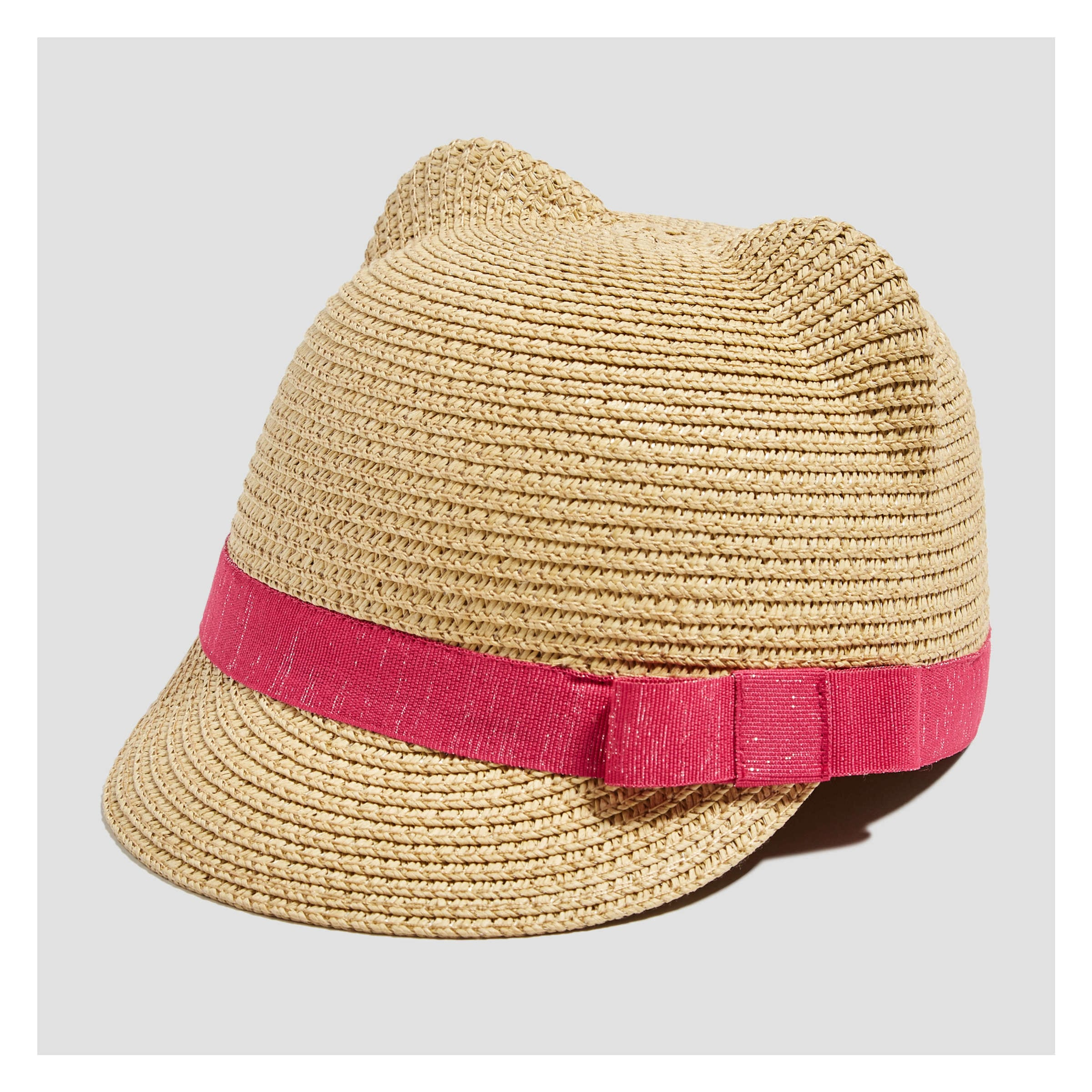 57e4dbdaa245 Toddler Girls' Cat Ear Straw Fedora in Natural from Joe Fresh