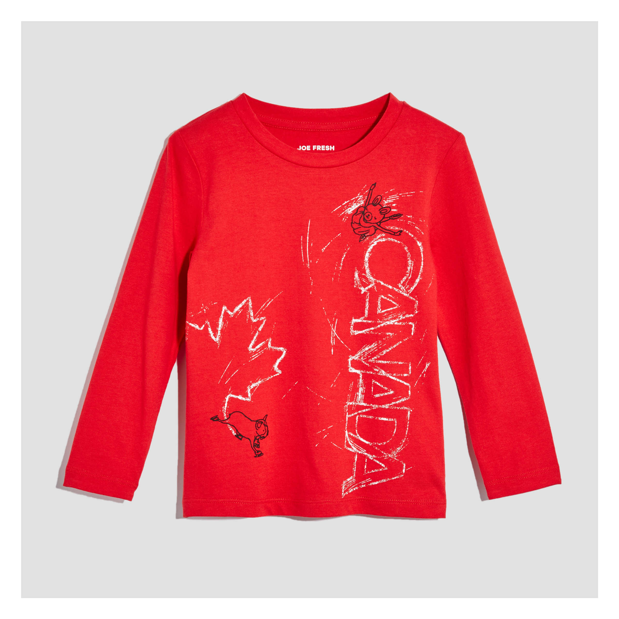 6d142c85 Toddler Girls' Long Sleeve Canada Tee in Red from Joe Fresh