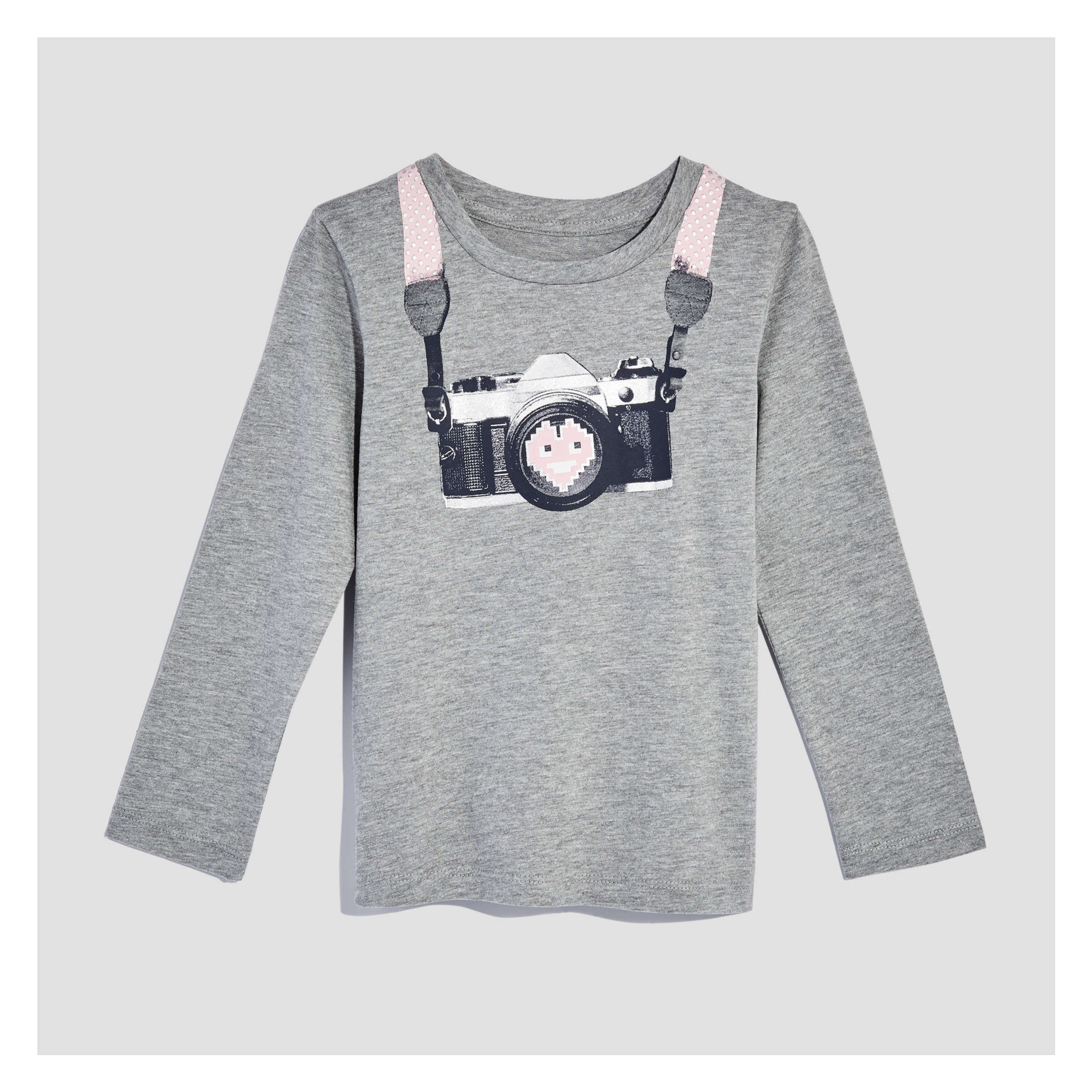 d417bea830 Joe Fresh Toddler Girls' Crew Neck Tee