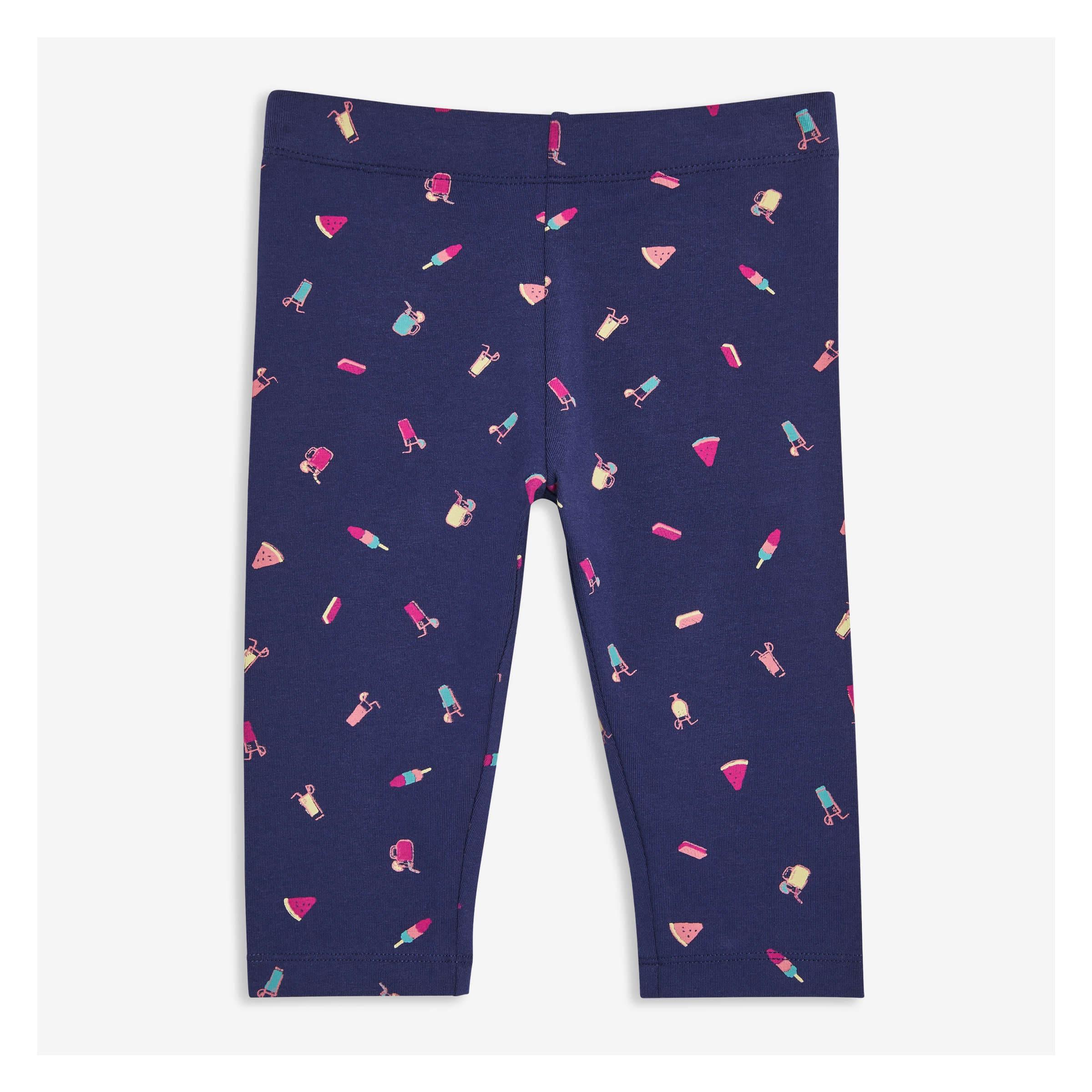 4961e9fef3044 Toddler Girls' Print Capri Legging in Dark Blue from Joe Fresh
