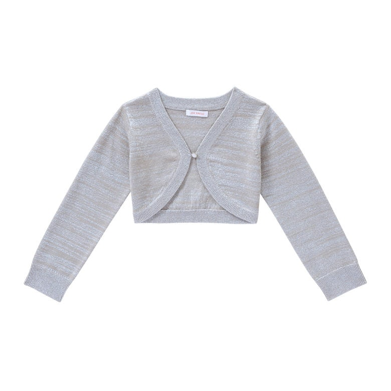 Silver Cardigan For Baby Girl - Gray Cardigan Sweater