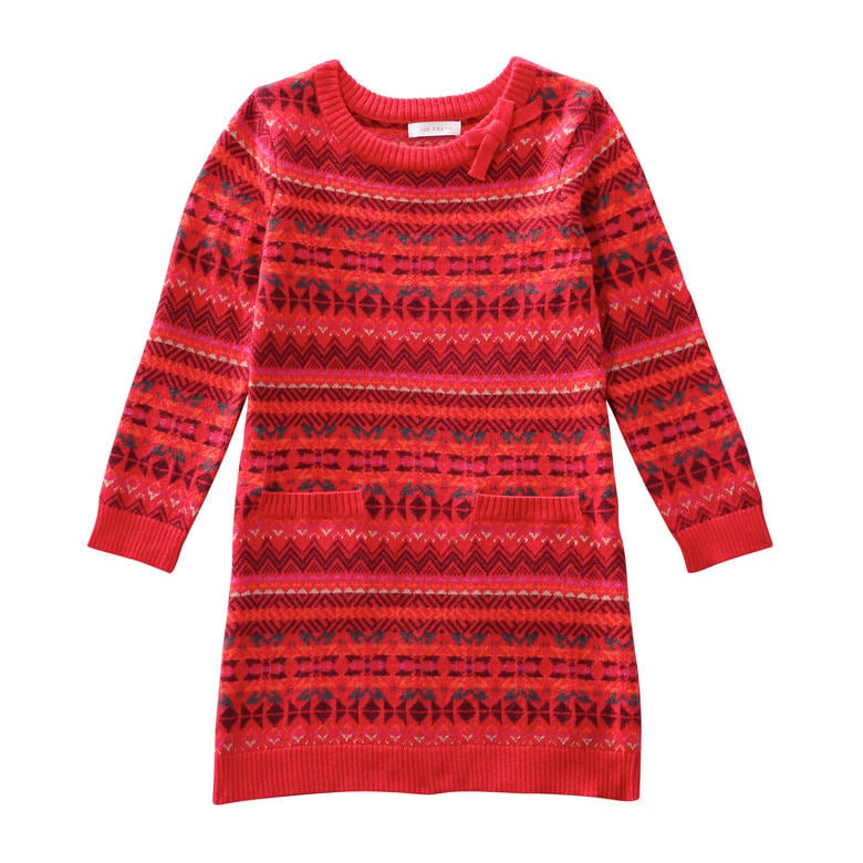 Toddler Girls' Fair Isle Dress in Red from Joe Fresh