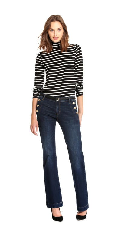 Stripe Light Turtleneck
