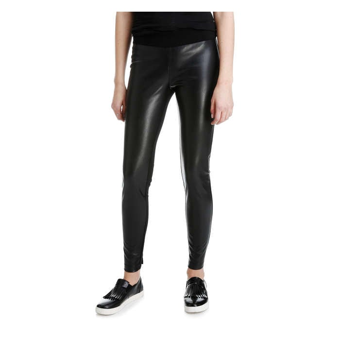 0cc598c263f Faux Leather Front Pant in Black from Joe Fresh