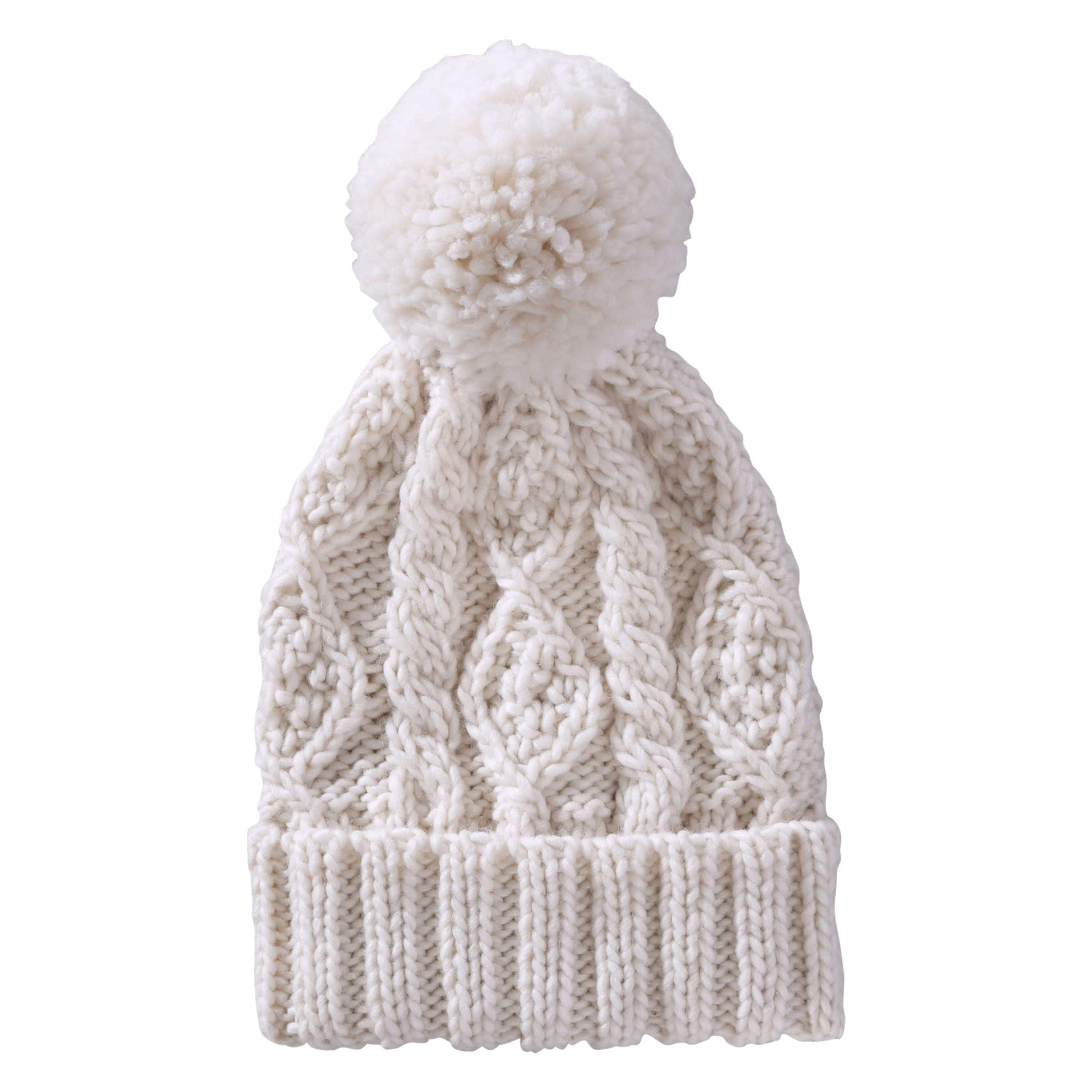 4ee20d4333b Cable Knit Winter Hat in Ecru from Joe Fresh