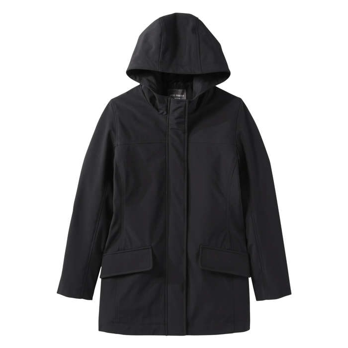Hooded Rain Jacket in Black from Joe Fresh