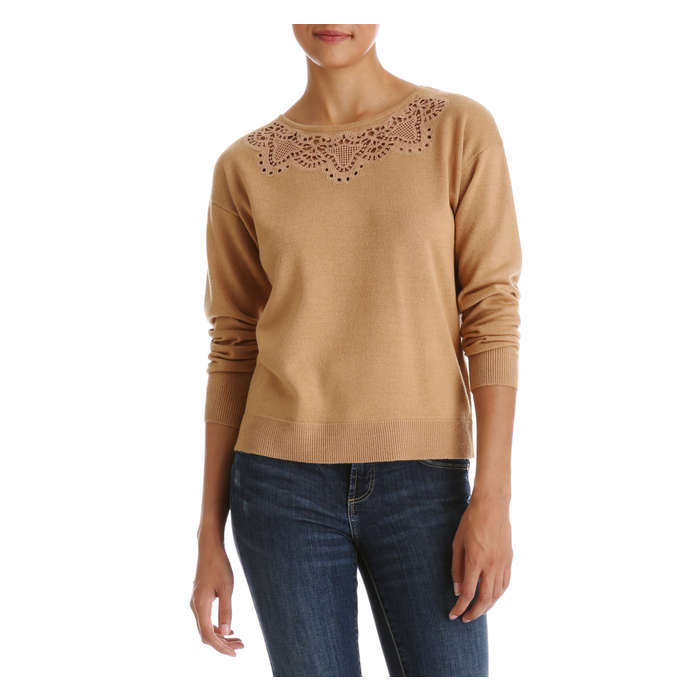 Lace Detail Pullover