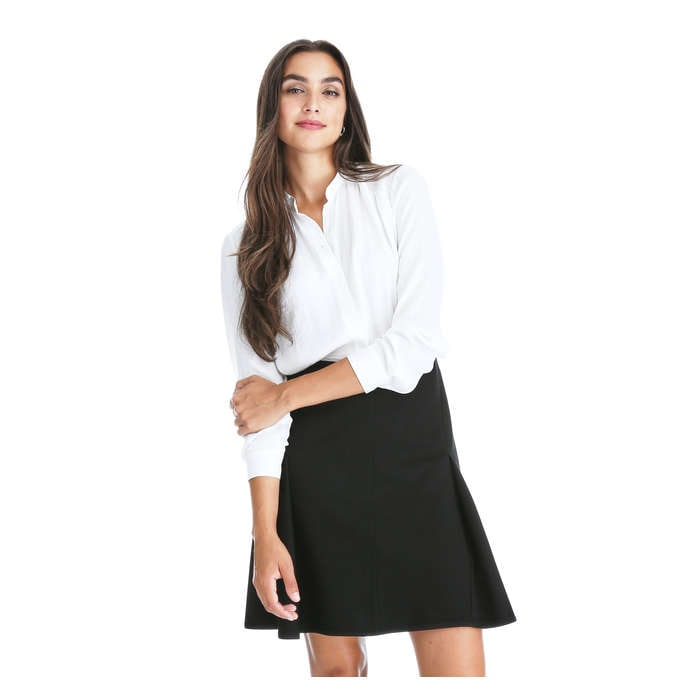 Ponte Fit and Flare Skirt