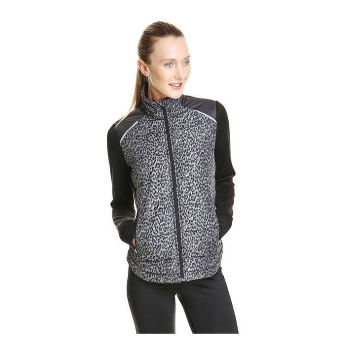 Print Quilted Active Jacket