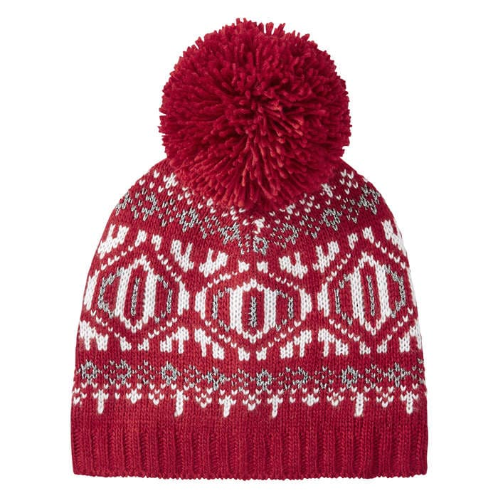Fair Isle Knit Hat in Red from Joe Fresh
